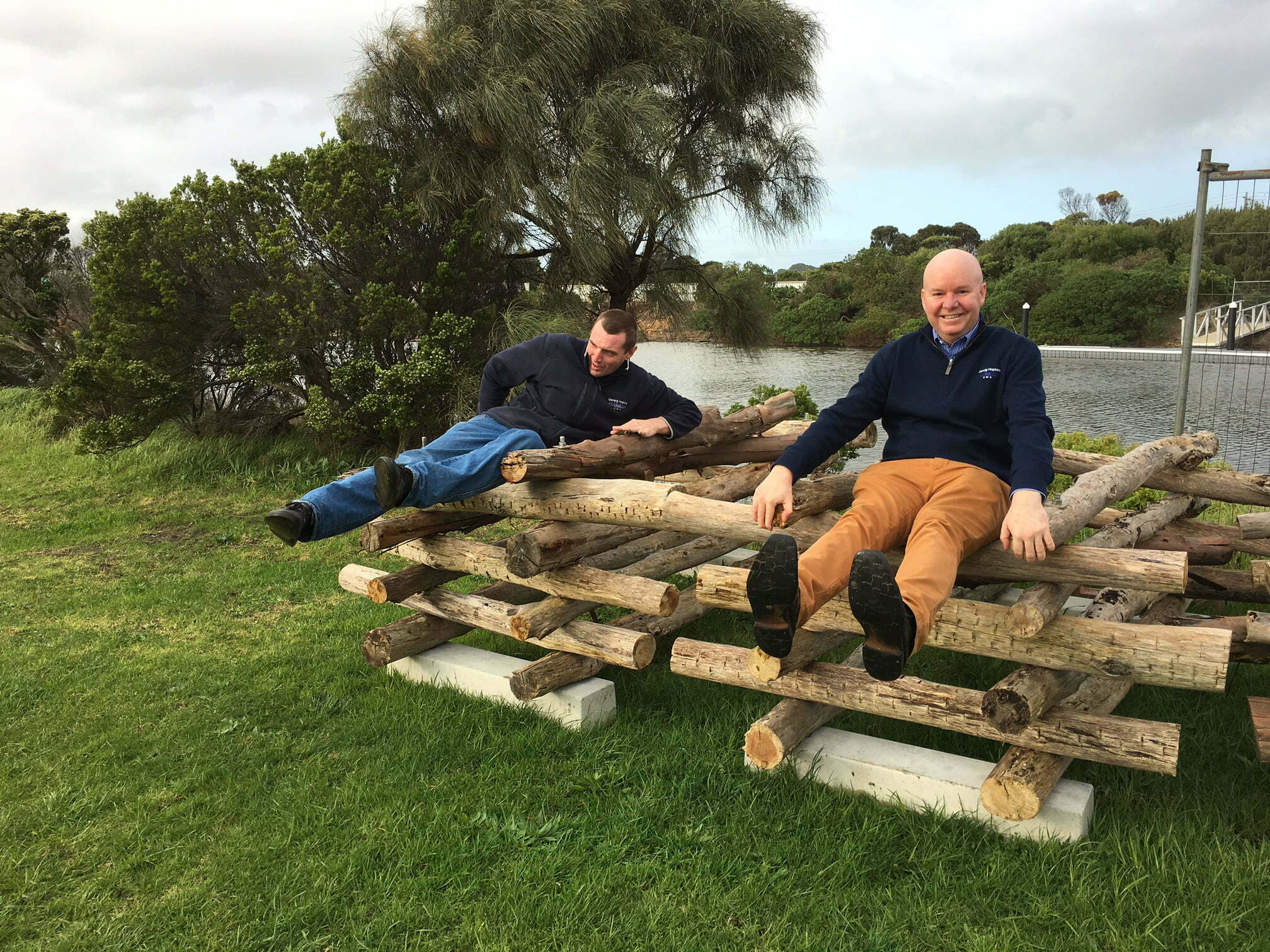 Fish hotels ready to put into the Merri River Warnambool, Photo Renae Ayres.
