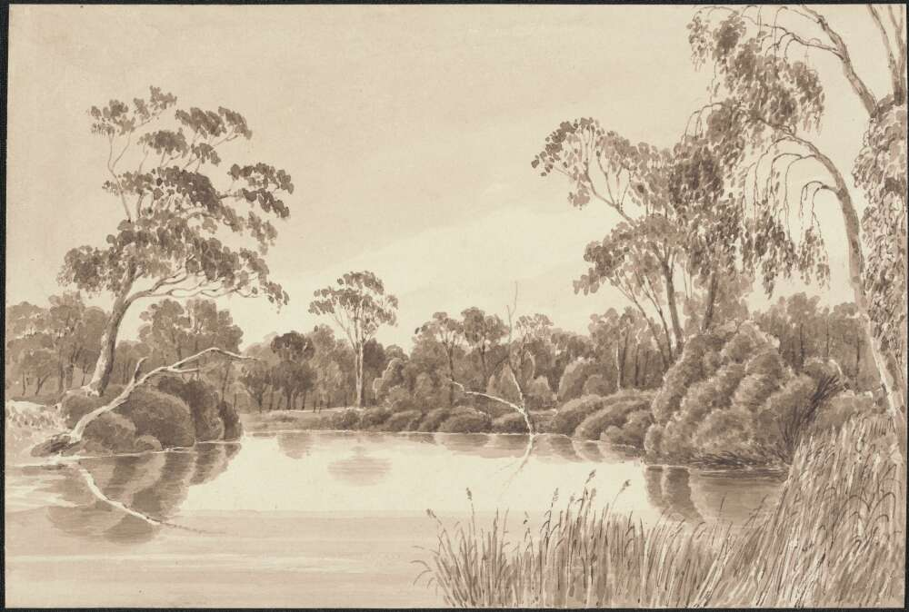Picture of the Wimmera River 1845